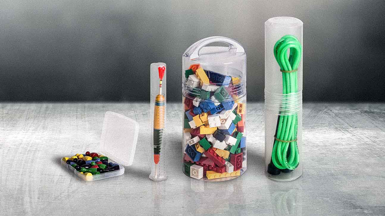 Various plastic packaging solutions for sporting goods.